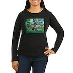 Bridge / Keeshond Women's Long Sleeve Dark T-Shirt