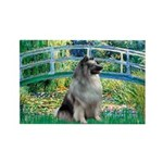 Bridge / Keeshond Rectangle Magnet