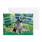 Bridge / Keeshond Greeting Card