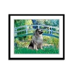 Bridge / Keeshond Framed Panel Print