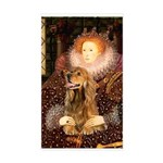 Queen / Cocker Spaniel (br) Sticker (Rectangle)
