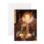 Queen / Cocker Spaniel (br) Greeting Cards (Pk of