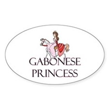 Gabonese Princess Oval Decal
