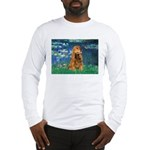 Lilies (5)/Cocker (br) Long Sleeve T-Shirt