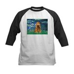 Lilies (5)/Cocker (br) Kids Baseball Jersey