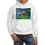 Lilies (5)/Cocker (br) Hooded Sweatshirt
