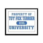Toy Fox Terrier U. Framed Panel Print