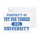 Toy Fox Terrier U. Greeting Cards (Pk of 20)