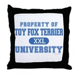 Toy Fox Terrier U. Throw Pillow