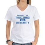 Toy Fox Terrier U. Women's V-Neck T-Shirt