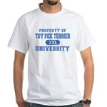 Toy Fox Terrier U. White T-Shirt