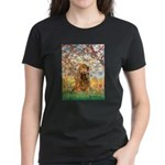 Spring /Cocker Spaniel (buff) Women's Dark T-Shirt