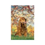Spring /Cocker Spaniel (buff) Rectangle Magnet