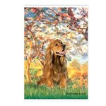 Spring /Cocker Spaniel (buff) Postcards (Package o