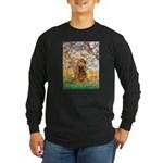 Spring /Cocker Spaniel (buff) Long Sleeve Dark T-S