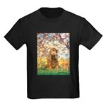 Spring /Cocker Spaniel (buff) Kids Dark T-Shirt