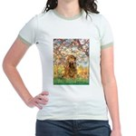 Spring /Cocker Spaniel (buff) Jr. Ringer T-Shirt