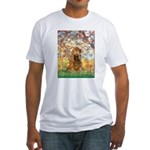 Spring /Cocker Spaniel (buff) Fitted T-Shirt