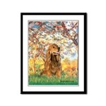 Spring /Cocker Spaniel (buff) Framed Panel Print