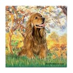 Spring /Cocker Spaniel (buff) Tile Coaster