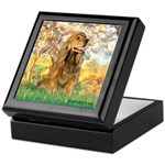 Spring /Cocker Spaniel (buff) Keepsake Box