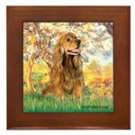 Spring /Cocker Spaniel (buff) Framed Tile