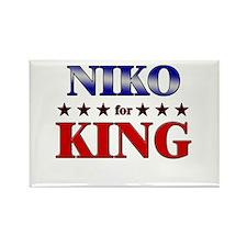 NIKO for king Rectangle Magnet