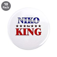 "NIKO for king 3.5"" Button (10 pack)"