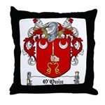 O'Quin Family Crest Throw Pillow