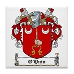 O'Quin Family Crest Tile Coaster