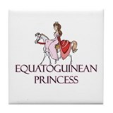 Equatoguinean Princess Tile Coaster
