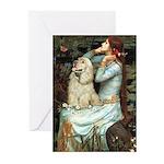 Ophelia / Cocker Spaniel (buff) Greeting Cards (Pk