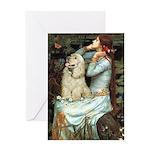 Ophelia / Cocker Spaniel (buff) Greeting Card