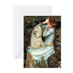 Ophelia / Cocker Spaniel (buff) Greeting Cards (Pk