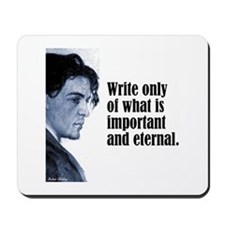 "Chekhov ""Write Only"" Mousepad"