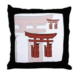 Otorii Shinto Gate Throw Pillow
