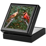 Two Cardinals Keepsake Box