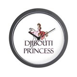Djibouti Princess Wall Clock