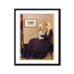WMom / Cocker Spaniel (buff) Framed Panel Print