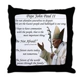 Pope John Paul II Throw Pillow