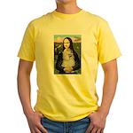 Mona Lisa /Cocker Spaniel Yellow T-Shirt