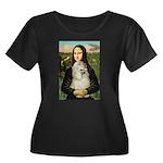Mona Lisa /Cocker Spaniel Women's Plus Size Scoop