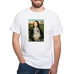 Mona Lisa /Cocker Spaniel White T-Shirt