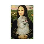 Mona Lisa /Cocker Spaniel Rectangle Magnet (10 pac