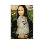 Mona Lisa /Cocker Spaniel Rectangle Magnet