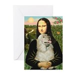 Mona Lisa /Cocker Spaniel Greeting Cards (Pk of 10
