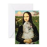 Mona Lisa /Cocker Spaniel Greeting Card