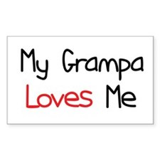 My Grampa Loves Me Rectangle Decal