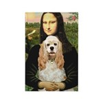 Mona Lisa / Cocker Spaniel Rectangle Magnet (10 pa