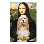 Mona Lisa / Cocker Spaniel Postcards (Package of 8